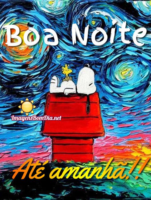 Boa Noite até amanhã imagens com Snoopy