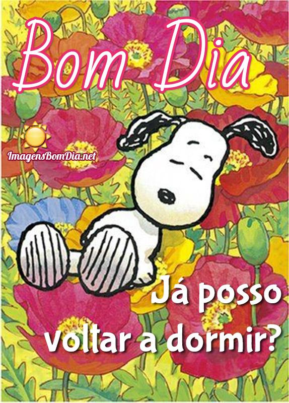 Bom Dia Snoopy imagens engraçadas