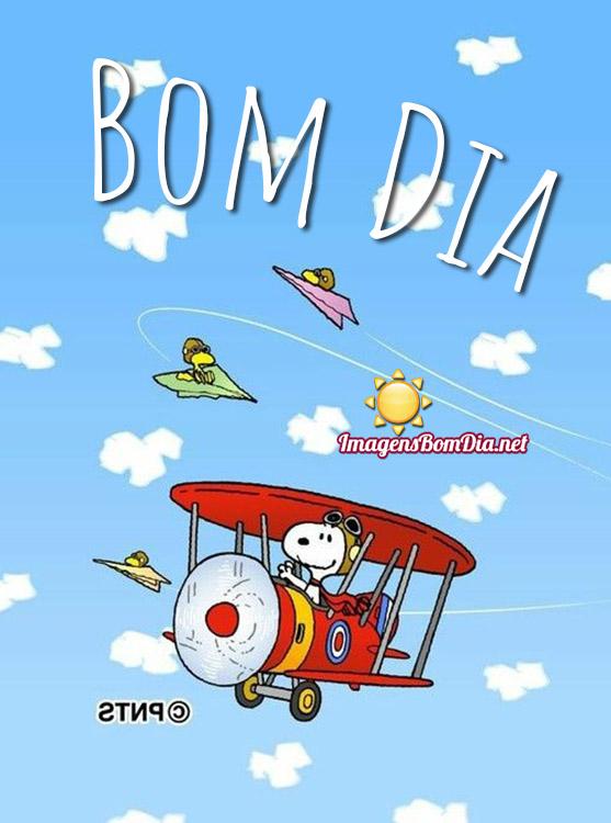 Bom Dia com Snoopy mensagens WhatsApp