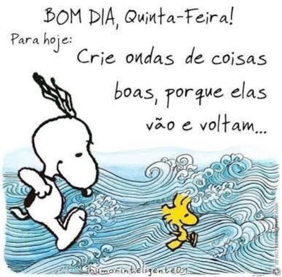 Snoopy Bom Dia Feliz Quinta-Feira 81